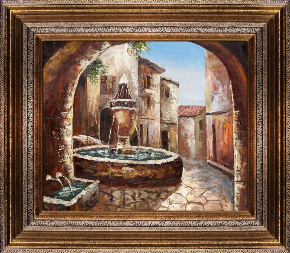Greek Villa II Pre-Framed