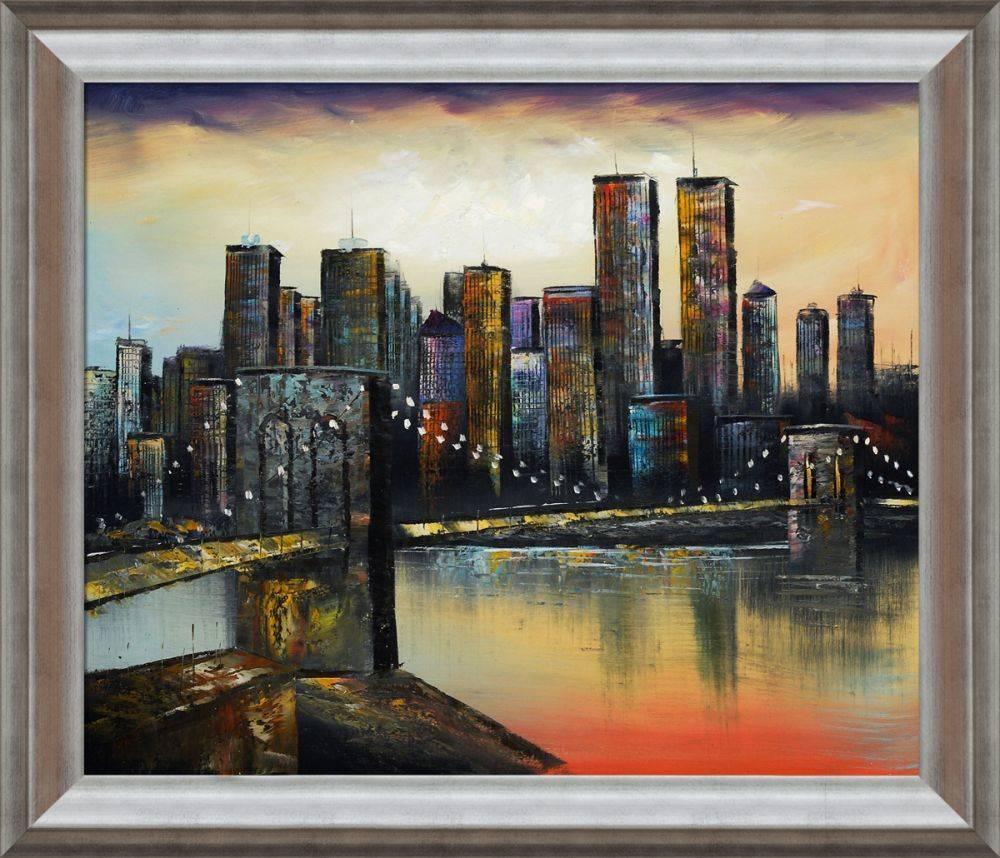 New York Evening, 1999 Pre-Framed