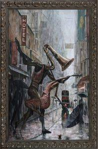 Life Is a Dance in The Rain Instrumental Reproduction Pre-Framed