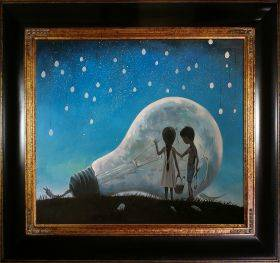 The Night We Broke The Moon Reproduction Pre-Framed