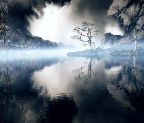 Misty Blue Lake