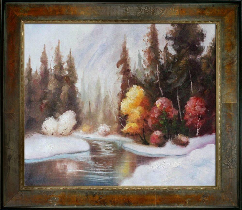 Winter Landscape Reproduction Pre-Framed
