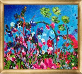 Bright Meadow Reproduction Pre-Framed