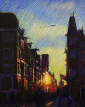Impression Of An Amsterdam Sunset