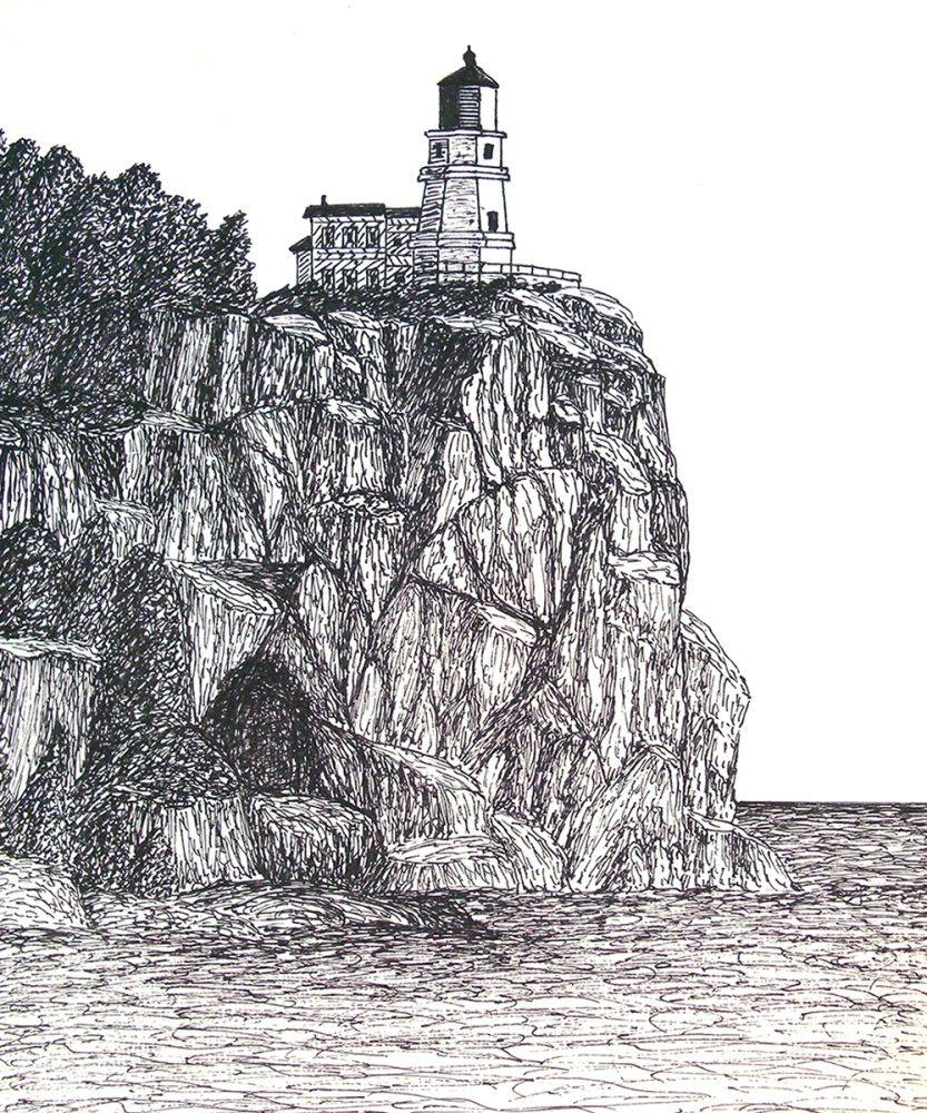 Split Rock Lighthouse Drawing