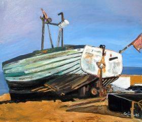 Boat On Beach In Aldeburgh