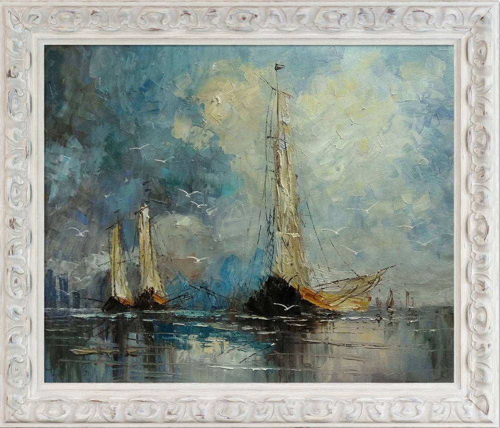 Boats Reproduction Pre-Framed