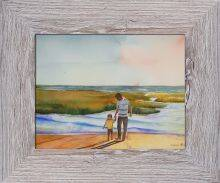 Cape Cod Sunset by Lynne Atwood Pre-Framed Canvas Print