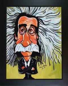 Albert Einstein Pre-Framed