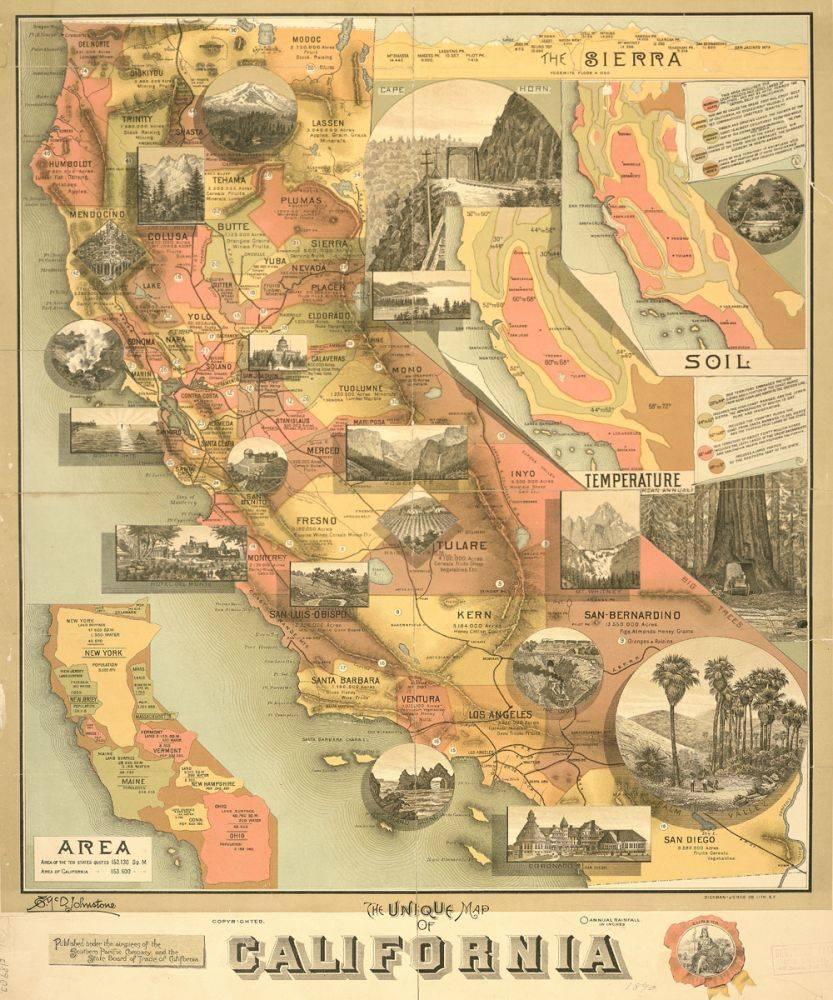 A Unique Map of California