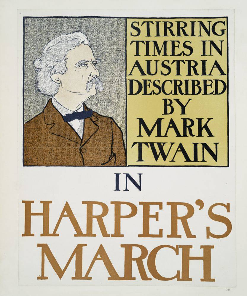 Mark Twain in Harper's March