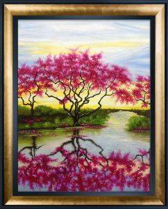 A Flowery Tree Reproduction Pre-Framed