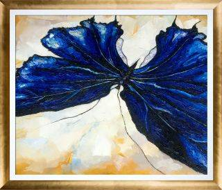 Butterfly 2 Reproduction with Gold Luminoso Pre-Framed