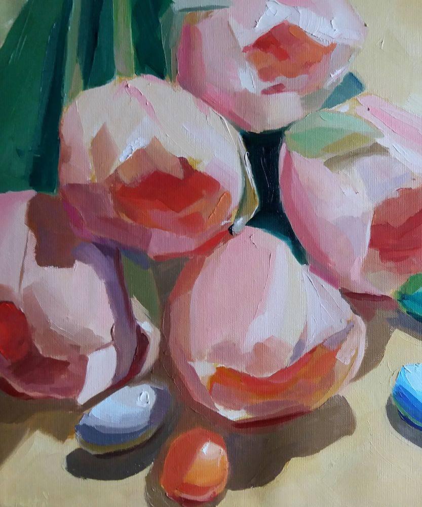 Tulip and Four Jordan Almonds