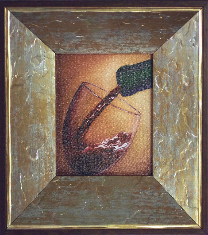 Red Wine Pre-Framed Miniature