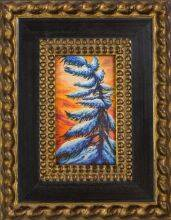 Pine Tree Winter Portrait Pre-Framed Miniature
