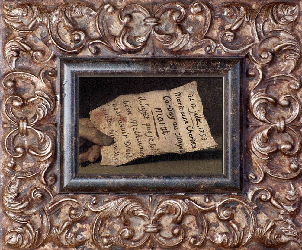The Death of Marat (Detail) Pre-Framed Miniature