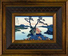 Lake Suwa in the Shinano Province Pre-Framed Miniature