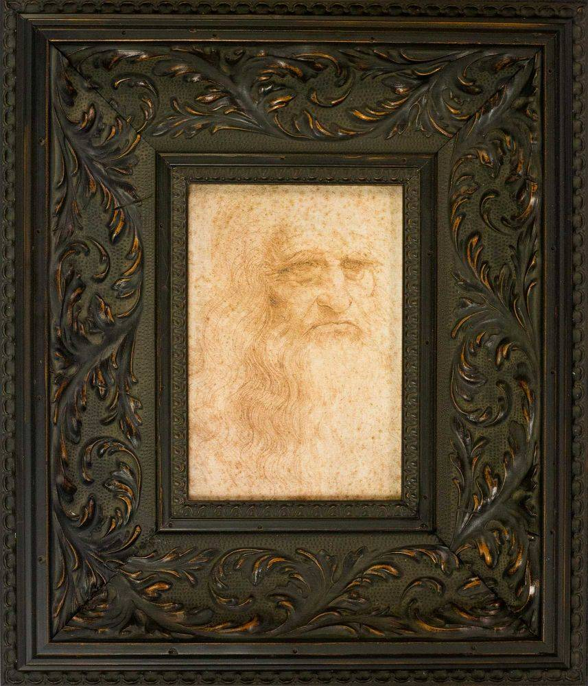 Portrait of a Man in Red Chalk Pre-Framed Miniature
