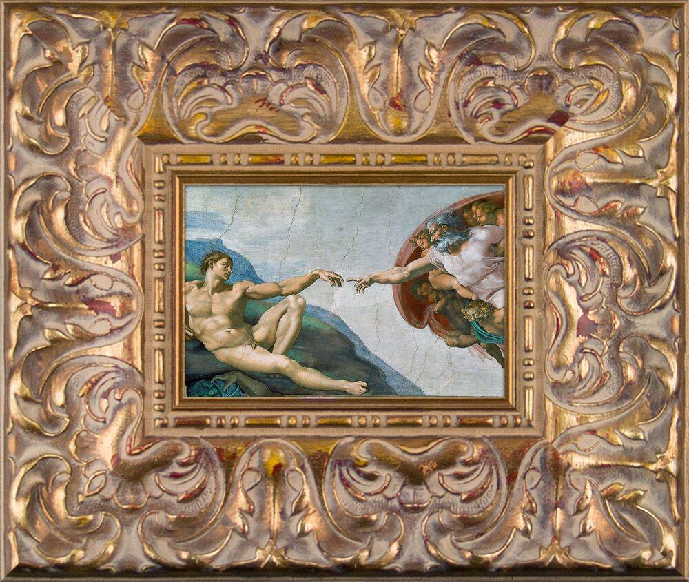 Creation of Adam Pre-Framed Miniature