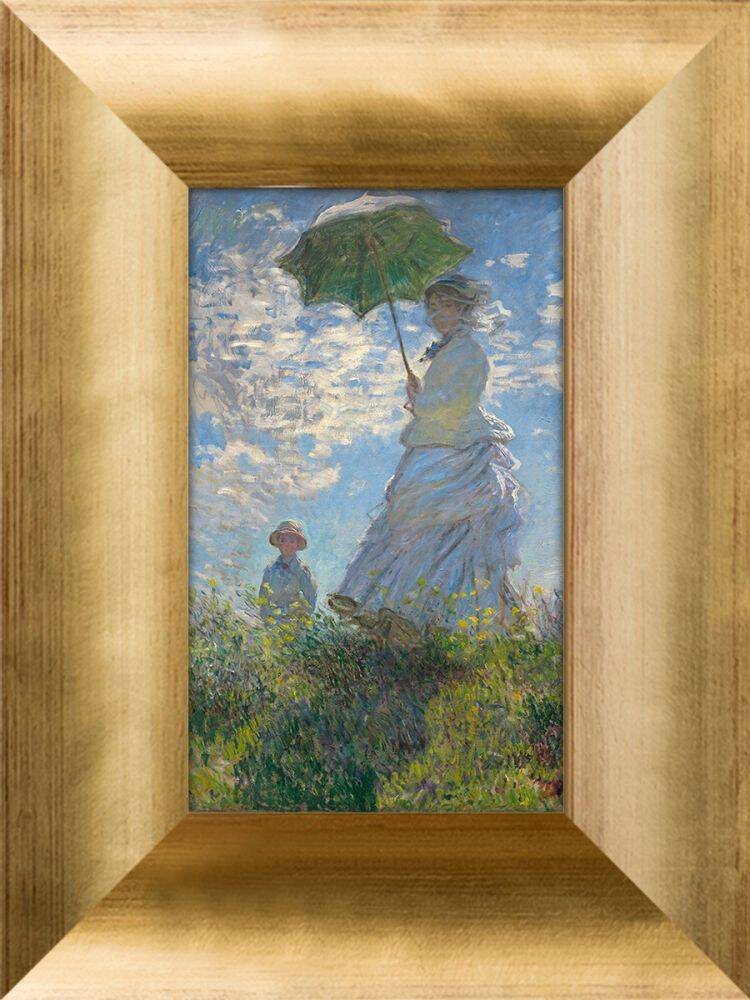 Madame Monet and Her Son Pre-Framed Miniature