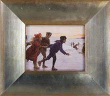 Children Skating Pre-Framed Miniature
