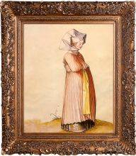 Nuremberg Woman Dressed for Church Preframed