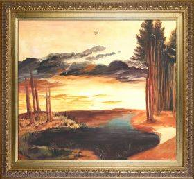 Pond in the Woods Preframed