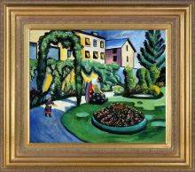 The Macke Garden at Bonn (Gartenbild) Pre-Framed
