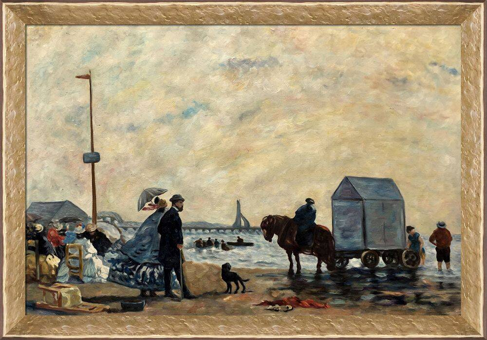 Beach at Trouville Pre-Framed