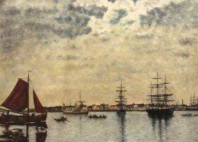 Antwerp, Boats on the River Scheldt