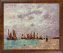 The Beach at Scheveningen Pre-Framed