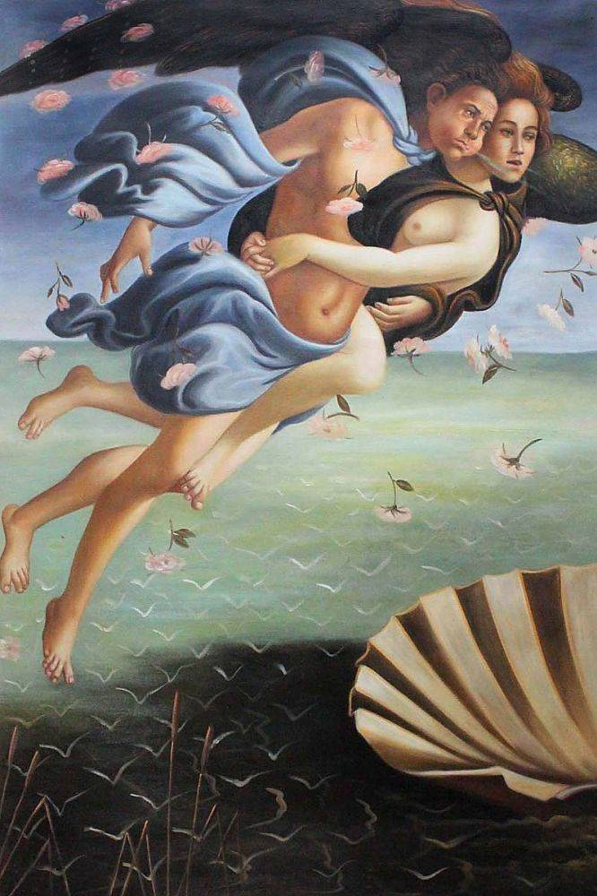 Birth of Venus (left panel)