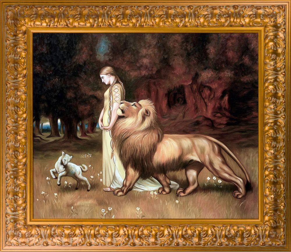 Una and the Lion Pre-Framed