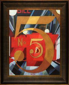 I Saw the Figure 5 in Gold Pre-Framed