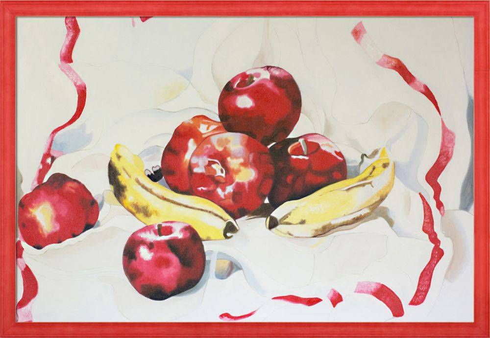 Still Life with Apples and Bananas Pre-Framed