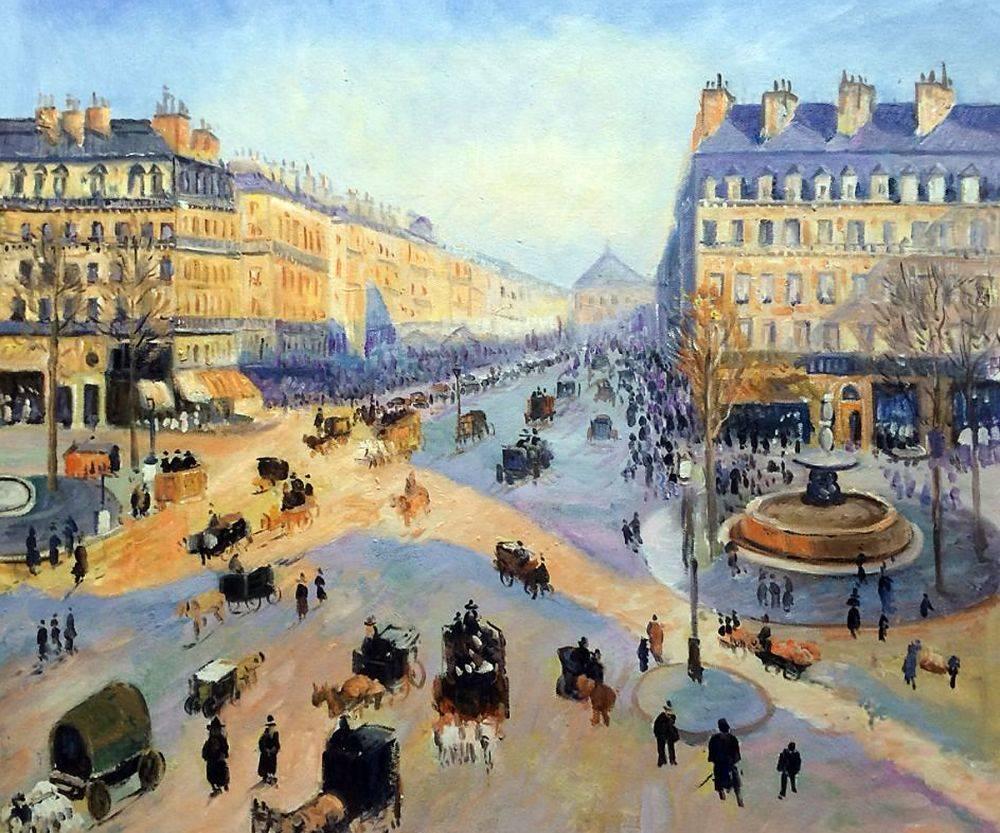 Avenue de l'Opera, Paris, Sun on a winter morning