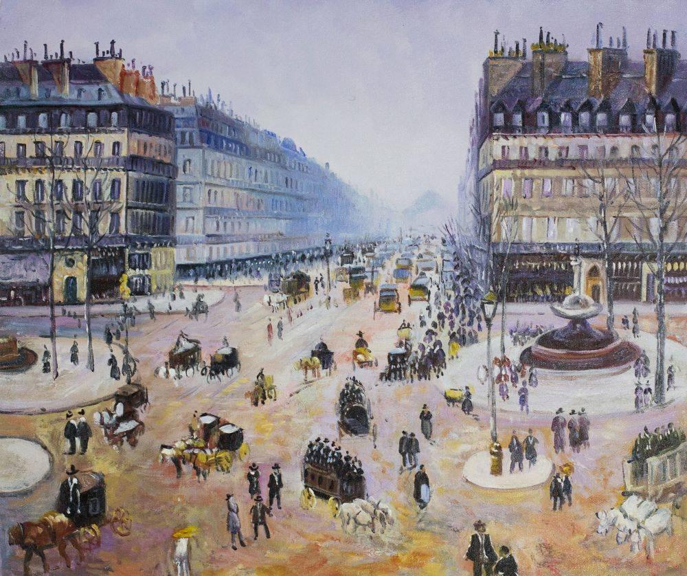 Avenue de l'Opera, Place du Theatre Francais Misty