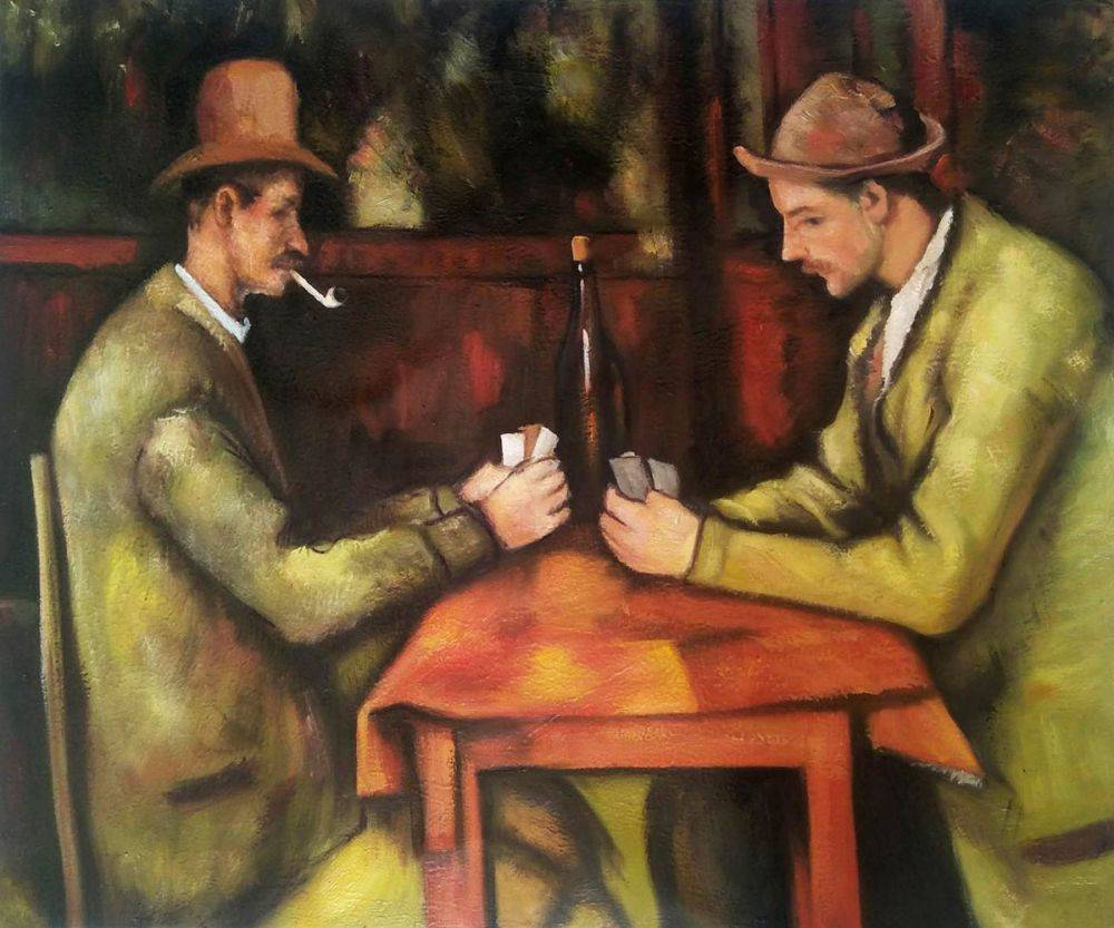 Paul Cezanne, Card Players with Pipes