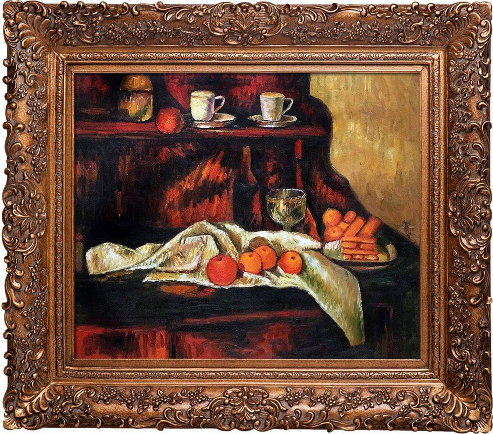 Receptacles, Fruit and Biscuits on a Sideboard Pre-Framed