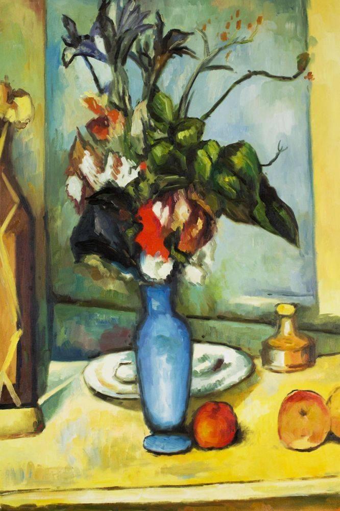 Cezanne Le Vase Bleu Oil Painting Reproduction