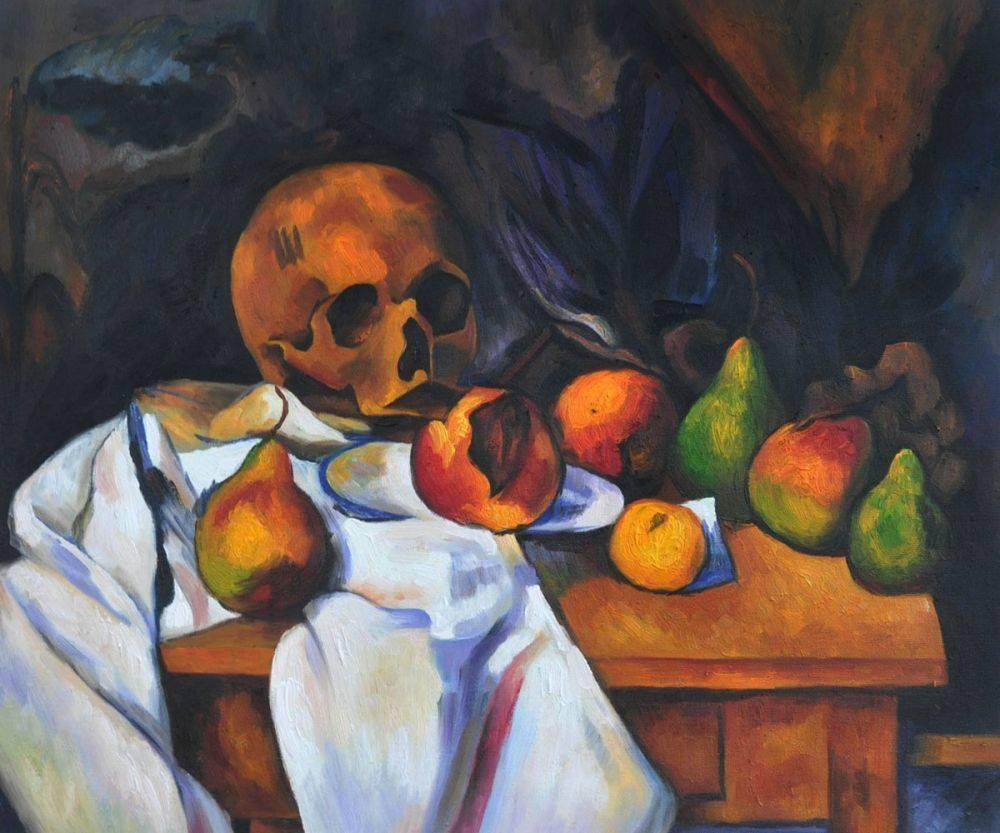 Nature Morte au Crane - Paul Cezanne Painting