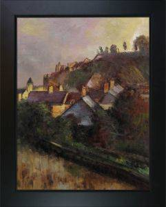Houses at the Foot of a Cliff (Saint-Valery-sur-Somme) Pre-Framed