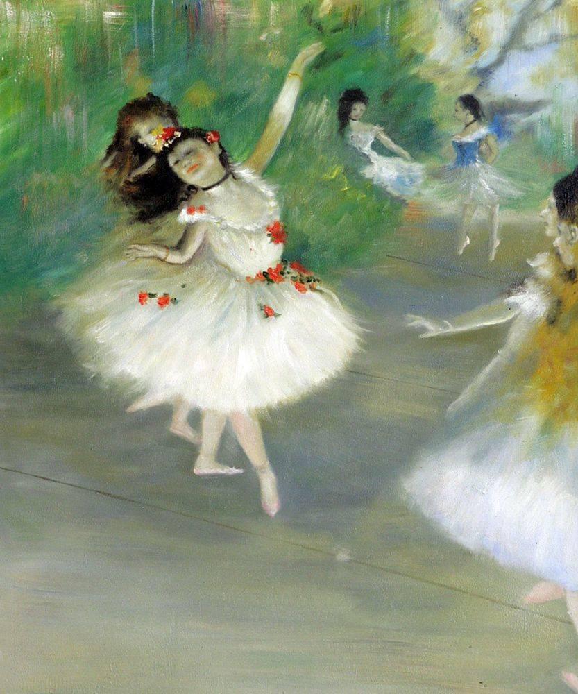 Degas - Dancers, 1878 - Painting Reproduction - Canvas Art ...