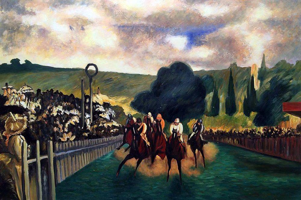 Racing at Longchamp, 1864