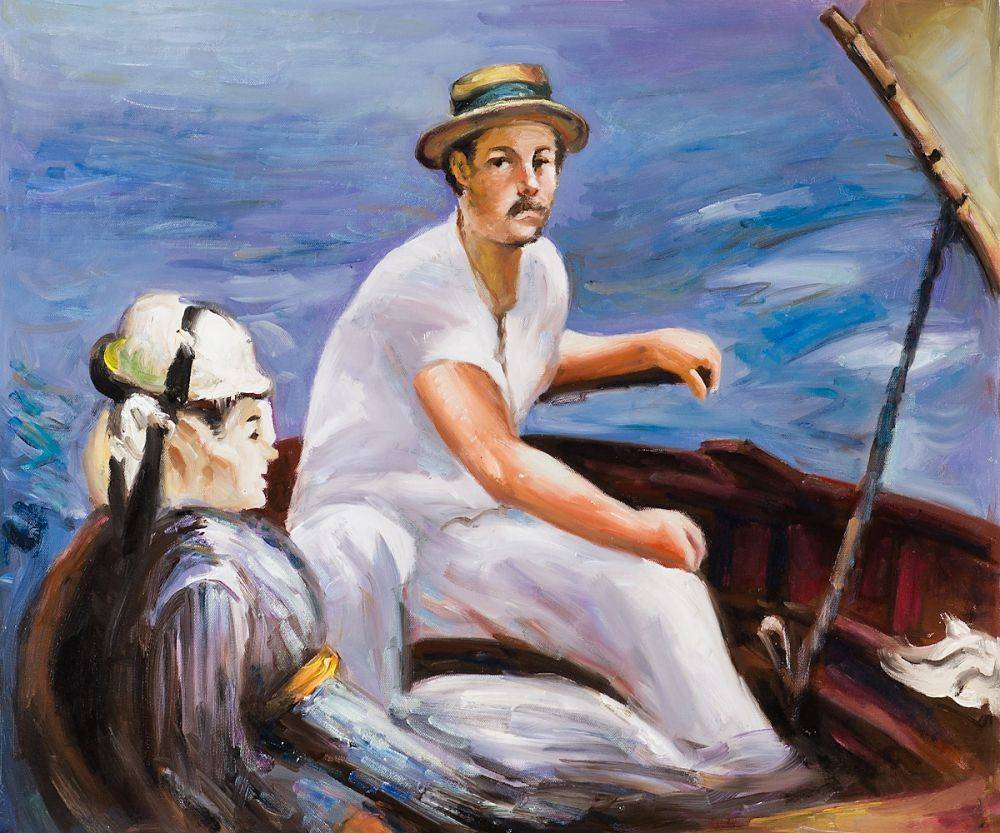 Manet - Boating Reproduction Oil Painting