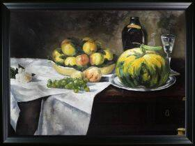Still Life with Melon and Peaches Pre-Framed
