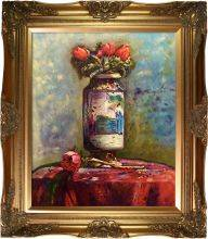 Anemones in a Chinese Vase Pre-Framed