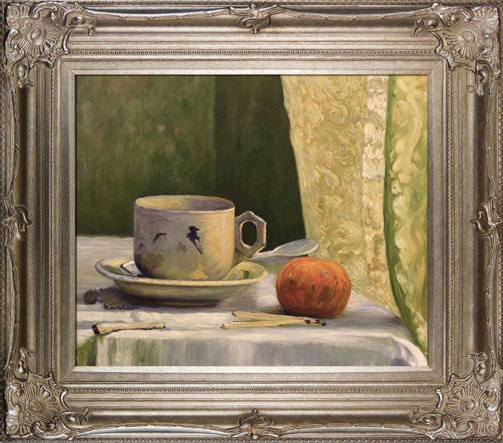 Cup and Mandarin Pre-Framed