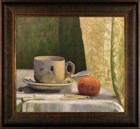 Cup and Mandarin with Veine D'Or Bronze Scoop Frame